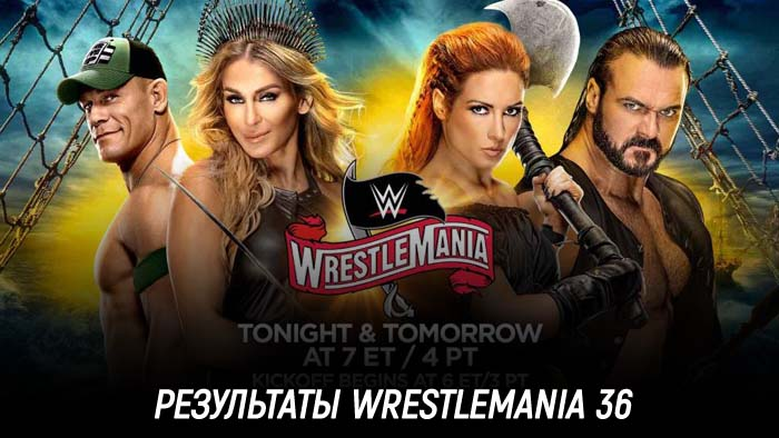 Результаты WWE WrestleMania 36
