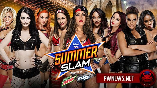 Team Bella vs. Team B.A.D. vs. PCB - SummerSlam