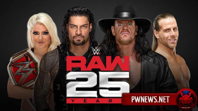 Закулисный апдейт по выпуску Raw, посвященному 25 годовщине шоу