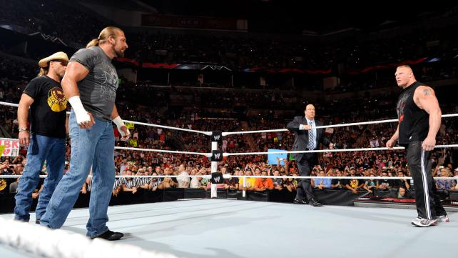 Brock Lesnar, Shawn Michaels, Triple H