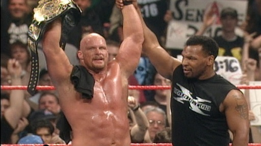 Steve Austin, Mike Tyson, Shawn Michaels on SummerSlam