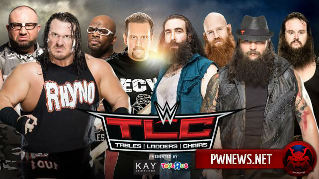 The ECW Team vs. The Wyatt Family (tables match)