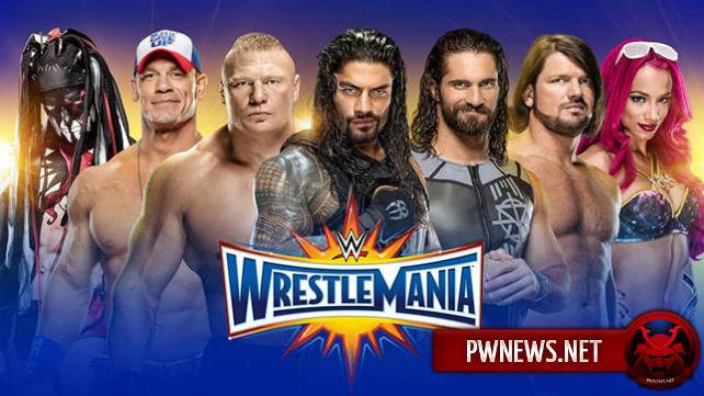 Ранние коэффициенты букмекерских контор к титульнным матчам на WrestleMania 33