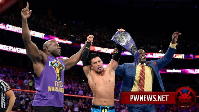 Закулисные новости о смене чемпиона полутяжеловесов на эпизоде Raw