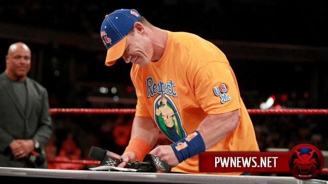 Об участии Джона Сины в составлении промо для его сегмента с Романом Рейнсом на Raw
