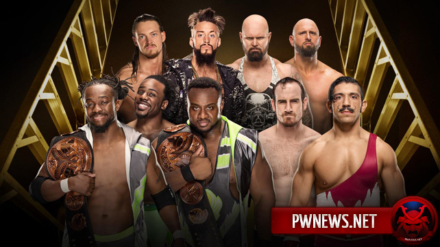 The New Day vs. Luke Gallows & Karl Anderson vs. Enzo Amore & Big Cass vs. The Vaudevillains (Fatal 4-Way Match)