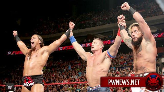 Что Джон Сина, Биг Кэсс и Энцо Аморе творили после Monday Night RAW?