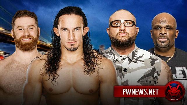 Neville & Sami Zayn vs. The Dudley Boyz – SummerSlam kickoff