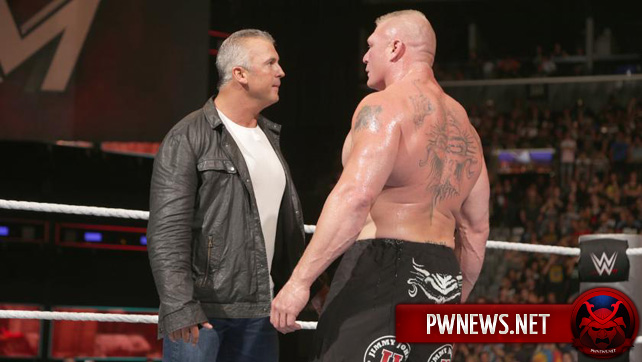 Шейн МакМэн чуть не устроил драку с Броком Леснаром за кулисами WrestleMania 34