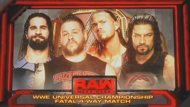 На следующее Raw назначен большой матч за вселенское чемпионство (Спойлер)