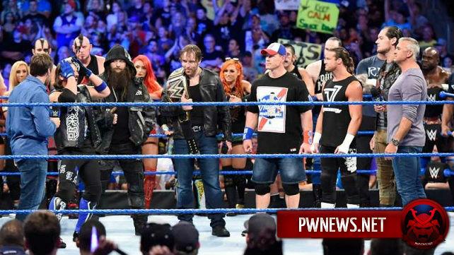 Что суперзвезды SmackDown творили после выхода Raw из эфира?