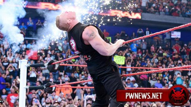 Брок Леснар частично отклонился от сюжета во время сегмента на Raw