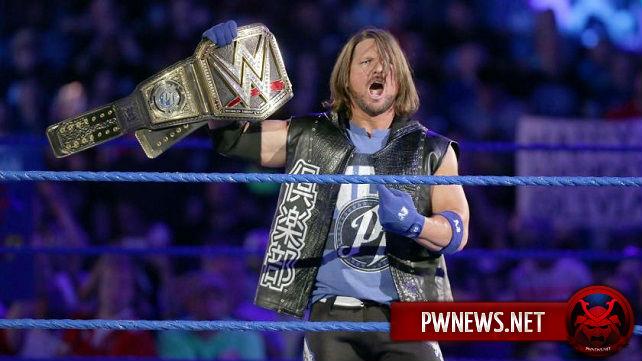 Новости касательно успеха ЭйДжей Стайлза, как чемпиона WWE
