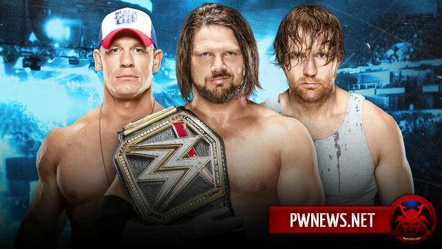 Официально: AJ Styles vs. John Cena vs. Dean Ambrose - No Mercy
