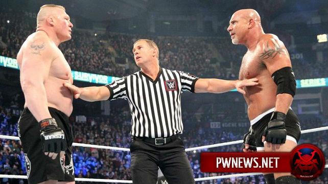 Оригинальные планы на матч Голдберга с Броком Леснаром на Survivor Series