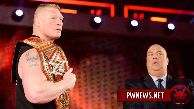 Брок Леснар будет защищать чемпионство Вселенной WWE до Royal Rumble