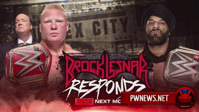 Закулисные новости о матче Джиндера Махала против Брока Леснара на Survivor Series, о сопернике Леснара на Royal Rumble