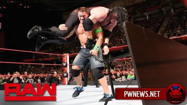 Как заранее анонсированный поединок Джона Сины и Кейна повлиял на просмотры прошедшего Raw?