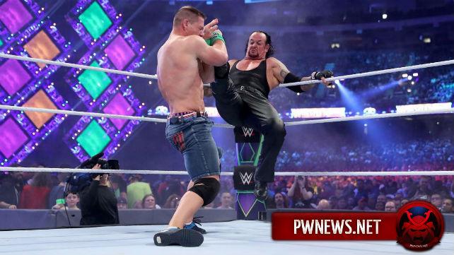 Известна причина непродолжительности матча Гробовщика и Джона Сины на WrestleMania 34