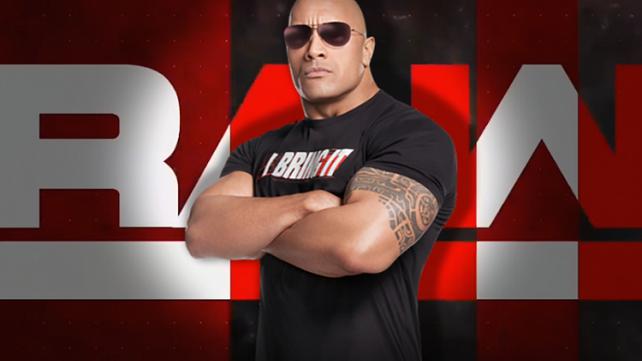 Рок может выступить на следующем Monday Night Raw