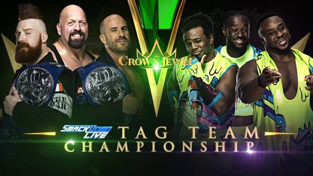 Матч за командное чемпионство SmackDown назначен на WWE Crown Jewel