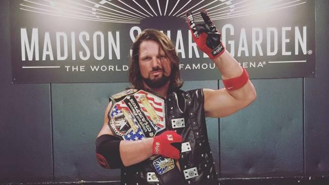 BREAKING: ЭйДжей Стайлз выиграл титул чемпиона США на хаус-шоу в MSG