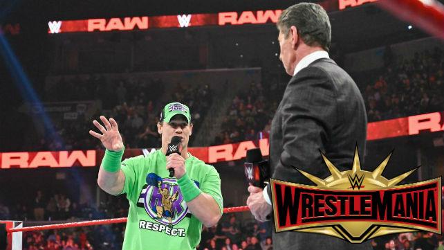 Джон Сина должен провести поединок на WrestleMania 35