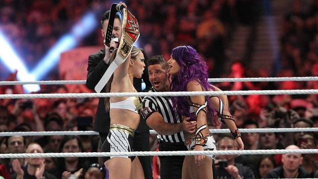 Саша Бэнкс получила повреждения во время матча с Рондой Раузи на PPV Royal Rumble