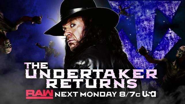Гробовщик появится на следующем эфире Raw