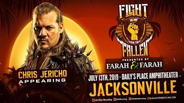 Крис Джерико заявлен на шоу AEW Fight for the Fallen
