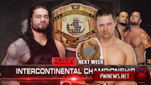 Два больших матча анонсировано на следующий выпуск Raw (ВНИМАНИЕ, спойлеры с прошедшего еженедельника)