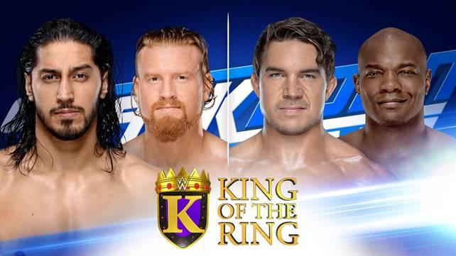 Последние два матча первого раунда турнира King of the Ring и сегмент официально назначены на ближайший эфир SmackDown