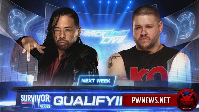 Два квалификационных матча за право принять участие на Survivor Series анонсированы на следующий SmackDown