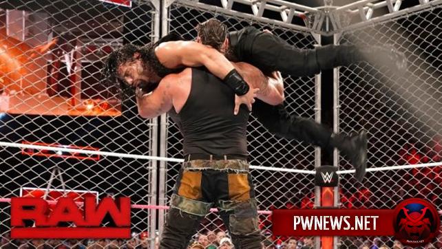 Как поединок Романа Рейнса и Брона Строумана внутри стальной клетки повлиял на телевизионные рейтинги последнего Raw перед TLC?
