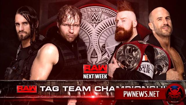 Титульный матч-реванш анонсирован на следующий эпизод Raw (спойлеры с Raw)
