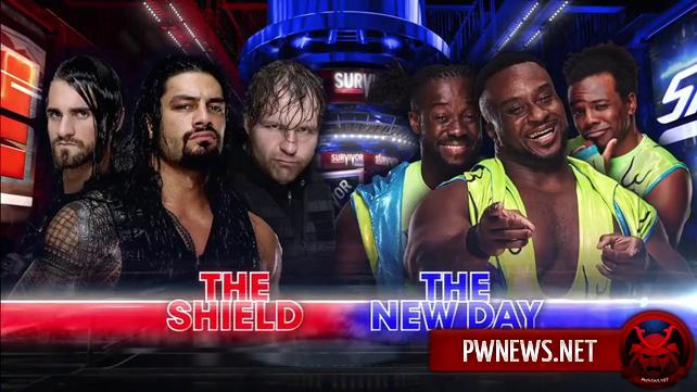 Официально: Щит против Нового Дня на Survivor Series 2017; Титульный матч отправлен на пре-шоу Survivor Series 2017