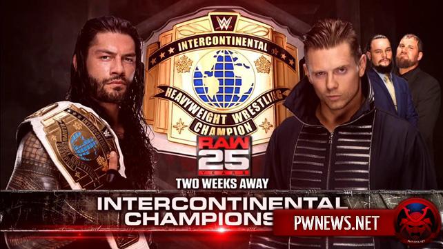 Титульный матч-реванш анонсирован на 25 годовщину Raw; Женский матч назначен на следующее Raw