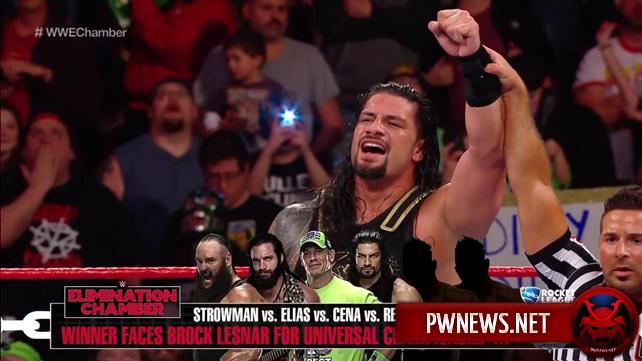 Определились четвёртый и пятый участники мужского Elimination Chamber матча (спойлеры с Raw); Raw сменило музыкальную тему