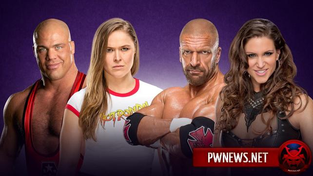 Официально: межгендерный матч Ронды Раузи и Курта Энгла против Стефани МакМэн и Трипл Эйча назначен на WrestleMania 34